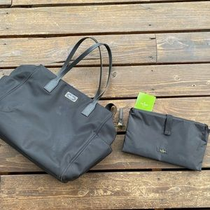Kate spade black diaper bag stroller bag
